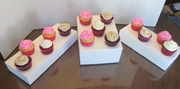 vanilla cupcakes,red velvet and german chocolate cupcakes