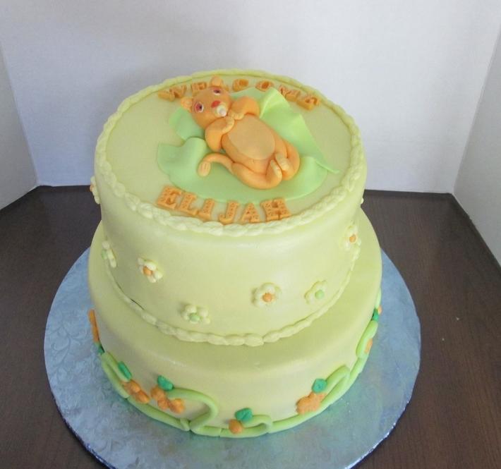 Lion King Baby Simba Baby Shower Cake