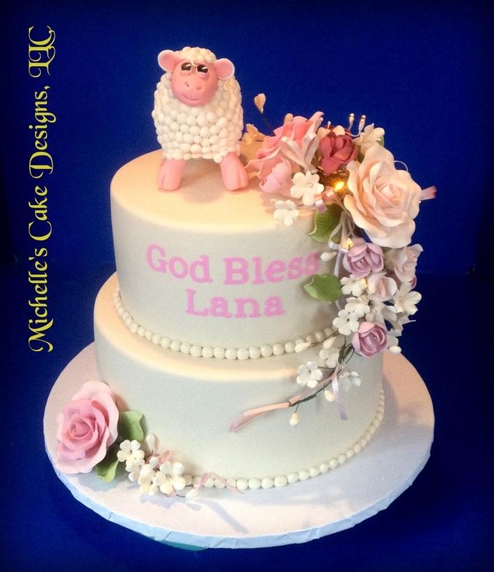 Lamb Christining Cake