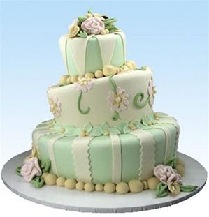 """Wonky Garden"" Wedding Cake"