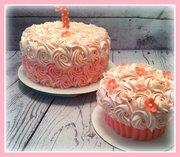 Rosey 1st birthday cake and smash cake