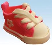 """""""Sneaker Snacker"""" Fondant Baby Tennis Shoe"""