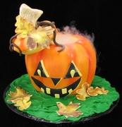 """Jack's Steaming Stew"" Halloween Cake"
