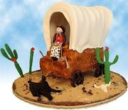 """Wagons, Ho!"" Covered Wagon Cake"