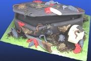 """Coffin Critters"" Halloween Cake"