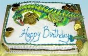 """Dragon's Gold"" Birthday Cake"