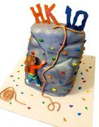 Rock Climbing 10th Birthday cake