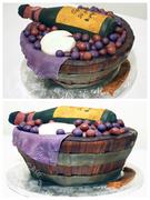 Wine Basket Cake