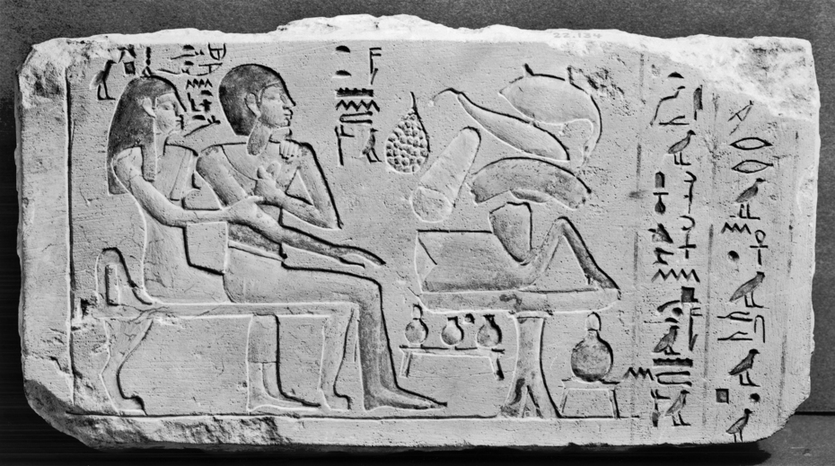 Egyptian_-_Relief_with_Husband_and_Wife_-_Walters_22134