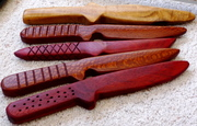 Exotic Wood Training Knives