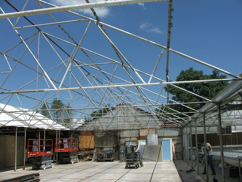 GrowHaus space with the roof removed