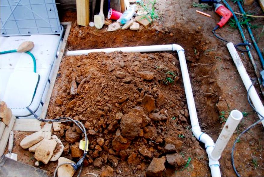 Plumbing Drain Line To Sump