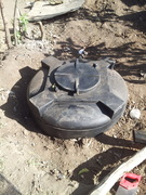finished hole for 1000ltr tank