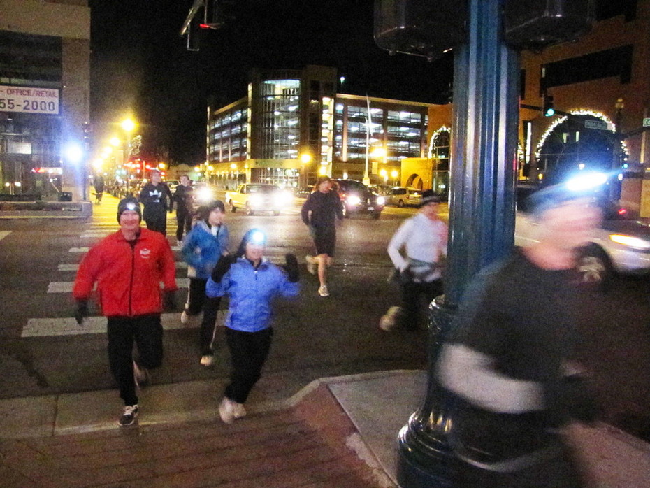 Jack Quinn's run in the cold and wind, Nov. 23