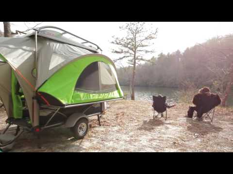 SylvanSport GO Pop Up Camping Trailer Setup of the Interior