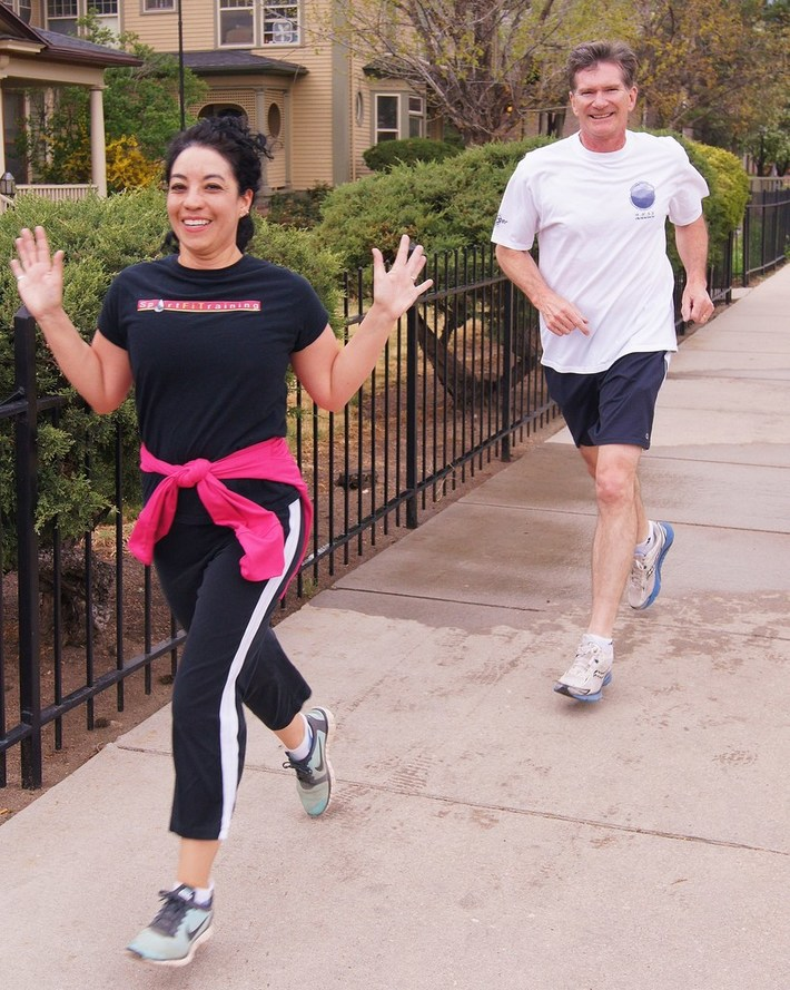 The couple that runs together: Steve and Leah Johnson complete 200 Jack Quinn's runs