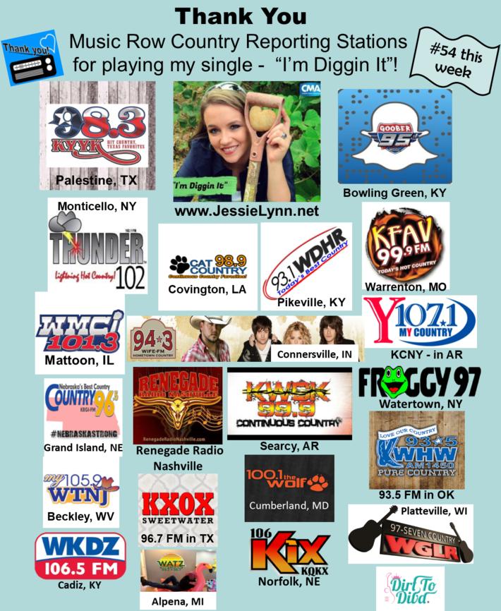 """Jessie Lynn's """"I'm Diggin It"""" #54 on Music Row"""