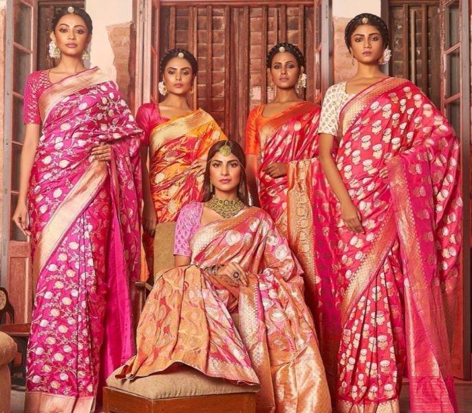 Image result for wedding bride banarasi saree