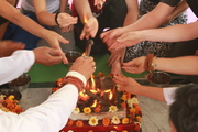 Yoga Pooja Ceremony in Rishikesh India