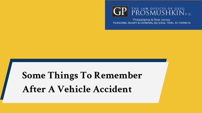 Some Things To Remember After A Vehicle Accident