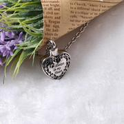 Cat Designed Always In My Heart Memorial Necklace