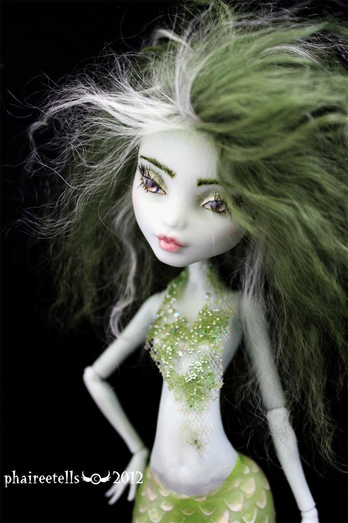 green mermaid portrait #15