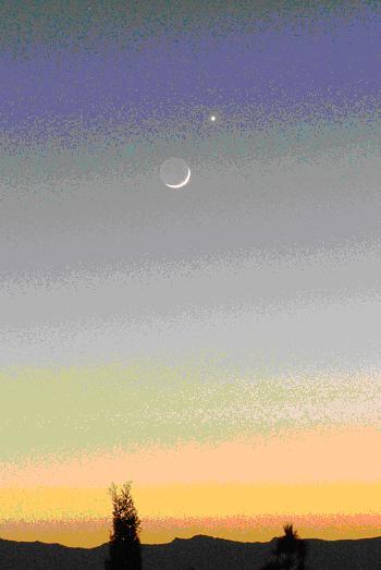 neomenia de la Luna con Venus sir
