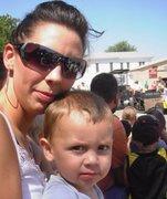 Jess with Ezra, my grandson
