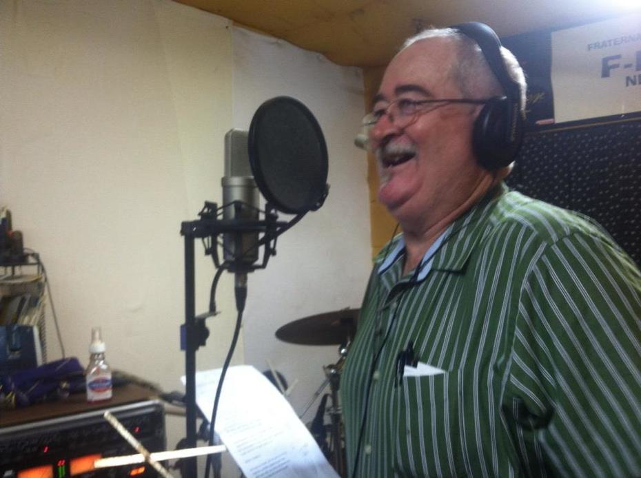 PASTOR LYNN SINGING IN THE STUDIO