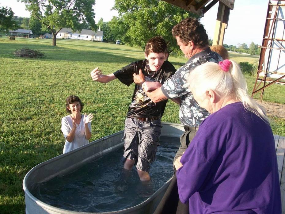 John Wayne Baptising