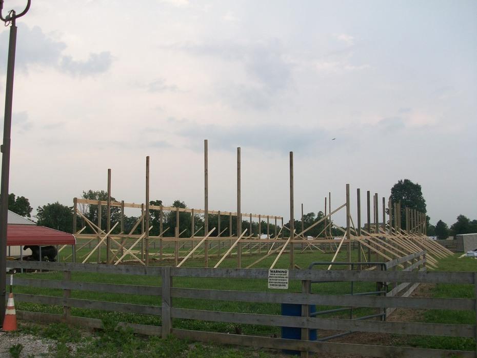 Cowboy Church Arena being built 2013