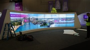 Interactive Curved Video Wall (2015)
