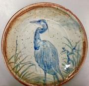 Blue Heron serving dish.