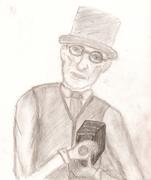 steampunk camerman