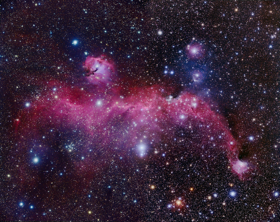 Seagull Nebula and Vdb92