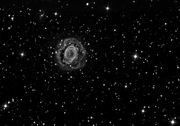 Ring Nebula, Messier 57 in B&W