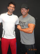 Dr Nikhil Lad owner of Fit 2 Function Training Institute with Sam Bakhtiar owner of Fitness Concepts, California USA
