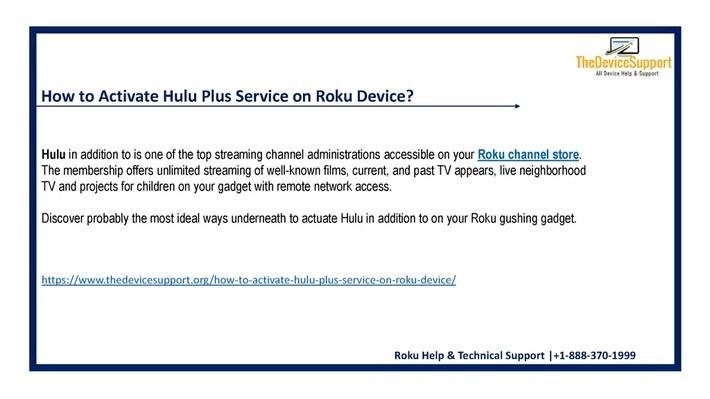 hulu support number +1-888-370-1999 Roku Customer Service