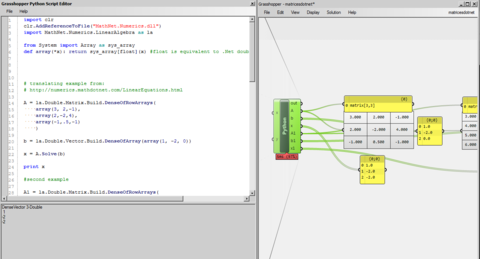 Using Math NET Numerics in GhPython - Grasshopper