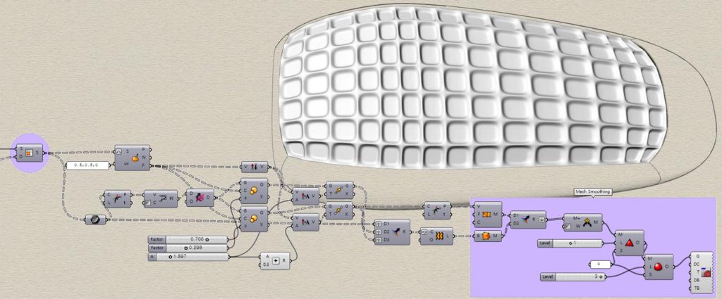 Simple Tessellation on Freeform Surface – Grasshopper