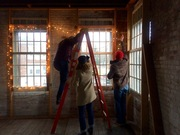 Holiday Lighting at the Poughkeepsie Underwear Factory 12/03/14