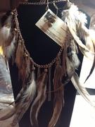 long feather chain fringe set