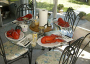 Lobster dinner in Florida..