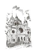 Tg.-Mureș, Biserica Israelită la 1890