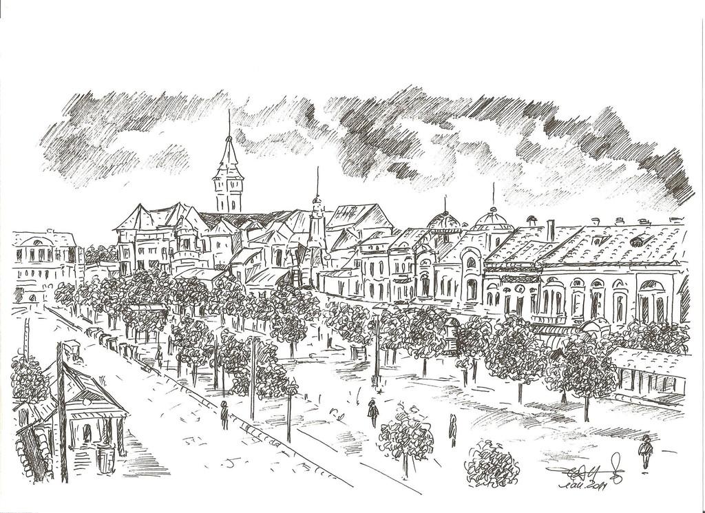 Tg.-Mureș: Piața Trandafirilor la 1900