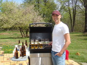 Grill Shot 1 - The Ultimate Beer Lover's Cookbook by John Schlimm - Photo by Steven K Troha
