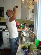Doing the Dishes Shot - The Ultimate Beer Lover's Cookbook by John Schlimm - Photo by Steven K Troha