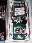 My Dale Jr. and Darrell Waltrip dual signed car