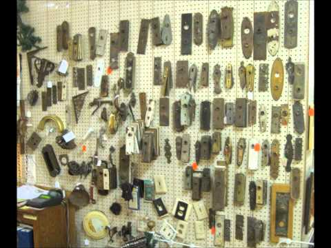 B & C Emporium Antiques and original hardware before Christmas.wmv