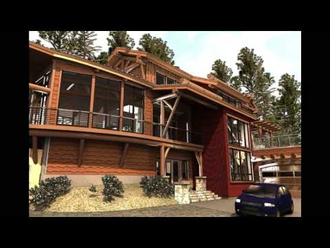 Gravitas Timber Frame Cabin, Contemporary Log Home